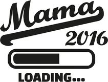 Mom 2016 loading german. Vector Stock Image