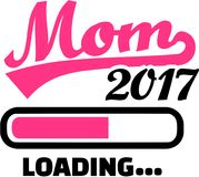 Mom 2017 is loading. Vector stock illustration