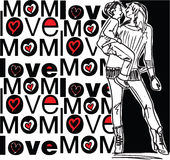 Mom love. Made in adobe illustrator Royalty Free Stock Photography