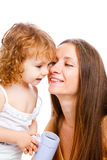 Mom and lovely girl Royalty Free Stock Photo
