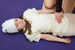 Mom daughter massage