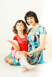 Mom and Me. Portrait of pretty woman with her daughter Royalty Free Stock Photo