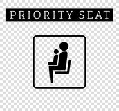Mom or mother with child sign. Priority seating for customers, special place icon isolated on background. Stock Photo