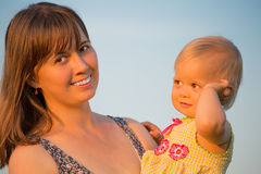 Mom nd Daughter Royalty Free Stock Images