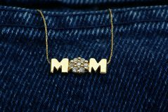 Mom Necklace Royalty Free Stock Photos