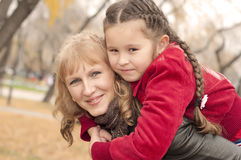 Mom plays with the child Stock Photos