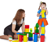 Mom plays with daughter Royalty Free Stock Image