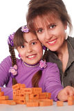 Mom plays with daughter Stock Photos