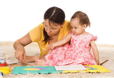 Mom plays with daughter Royalty Free Stock Photo