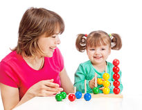 Mom plays with her daughter Stock Photography