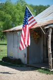 Mom and Pop American store with flag Royalty Free Stock Images