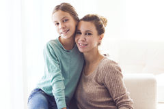 Mom with pre teen daughter Royalty Free Stock Photography