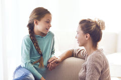 Mom with pre teen daughter Stock Photography