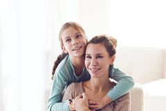 Mom with pre teen daughter Stock Image