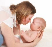Mom's admiration Royalty Free Stock Photo