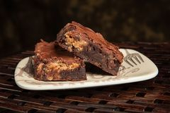 Mom`s chocolate peanut butter brownie treat