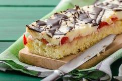 Mom's dessert with fresh strawberries Stock Image