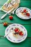 Mom's dessert with fresh strawberries Stock Photos