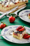 Mom's dessert with fresh strawberries Royalty Free Stock Photo