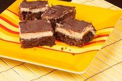 Mom`s homemade brownie cheesecake bars
