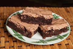 Mom`s homemade chocolate mocha frosted brownies