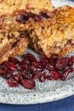 Mom`s homemade cranberry square dessert