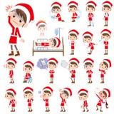 Mom_sickness костюма Санта Клауса иллюстрация вектора