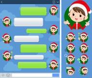 Mom_sns костюма Санта Клауса иллюстрация вектора
