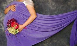 Mom som är havandeskapkonst Royaltyfria Bilder