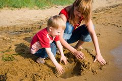 Mom and son Royalty Free Stock Photos