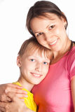 Mom with son Royalty Free Stock Images