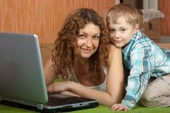 Mom with son Stock Photos