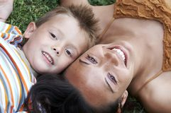 Mom and son Royalty Free Stock Image