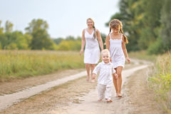 Mom with son and daughter Stock Photography