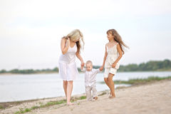 Mom with son and daughter Royalty Free Stock Photo