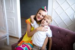 Mom and son family royalty free stock images