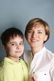 Mom and son Stock Photography