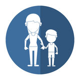 Mom and son holding hands shadow Stock Photography
