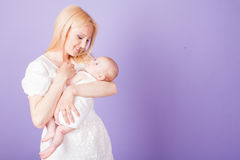 Mom and son love happiness baby Stock Image