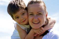 Mom and son Stock Photos