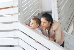 Mom and son Royalty Free Stock Images