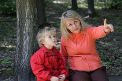 Mom and son Stock Image