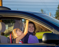 Mom Takes Daughter To Practice Royalty Free Stock Photo