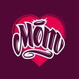 Mom Tattoo Style Vector Lettering stock illustration