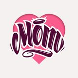 Mom Tattoo Style Vector Lettering royalty free illustration