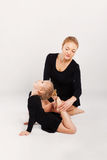 Mom teaching kid dancing. mother and daughter Stock Photography