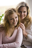 Mom and teenage daughter Royalty Free Stock Images