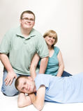 Mom and teenage sons Royalty Free Stock Photos