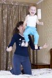 Mom throws kid Royalty Free Stock Photos