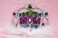Mom to Be. A mom to be tiara for the baby shower Royalty Free Stock Images